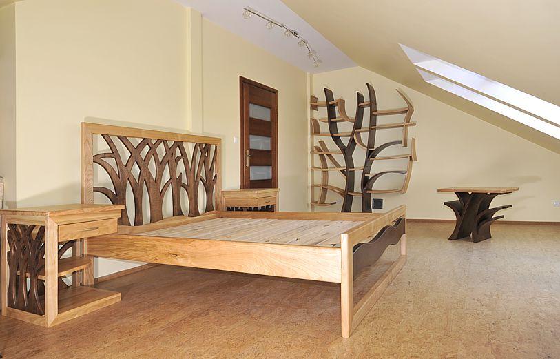 Super Meble drewniane do sypialni - Meble drewniane i artystyczne na BI15